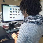 Girl on Computer at Desk