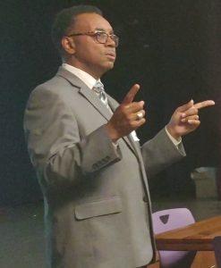 Dr. Richard Lynch giving speech